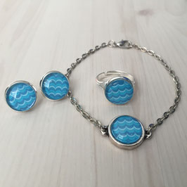 Blue waves Schmuckset