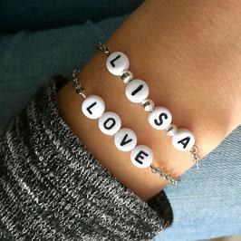 Buchstabenarmban LOVE