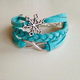 Eiskristall-Infinity Armband