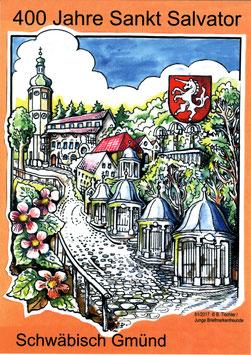 Ansichtskarte St. Salvator, Felsenkirche mit Kreuzweg Schwäbisch Gmünd