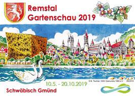 Ansichtskarte Stadtensemble, Remstal Gartenschau 2019 Schwäbisch Gmünd