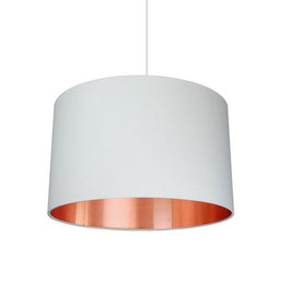 "Lampenschirm ""copper meets white"""