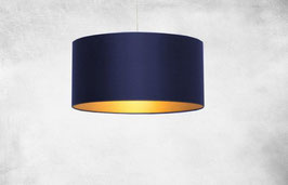"Lampenschirm ""navy meets gold"""