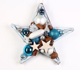 Blau - weißer Stern mit Glasbonbon