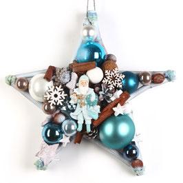 Stern - Blauer Weihnachtsmann
