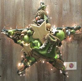 Grüner Stern - Leuchtende Schlittschuhe -