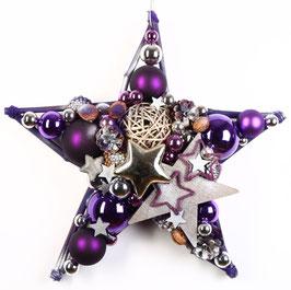 Stern Dekoration in violett - silber
