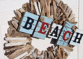 xxl Holzkranz in 48 cm mit Beachschild