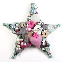 Pastell mit Vögelchen - Stern