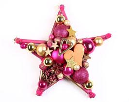 Dekostern - Pink mit orange Herz