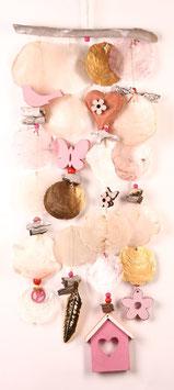 Windspiel in rosa - weiß und gold (Nr. 0483)