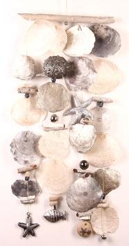 Windspiel in silber - weiß - grau (Nr. 0494)