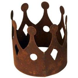 Krone aus Metall in Edelrost