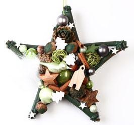Kleiner Stern in grün-weiß
