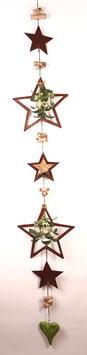 Grün-braune Girlande mit Sternen und Misteln (Nr. 5488)