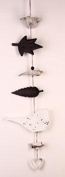 Girlande mit Vogel, Krone und schwarzen Blättern (6561)