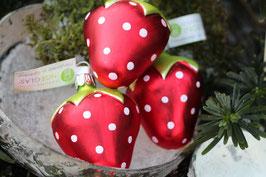 Rote Erdbeere aus Glas, Handmade in Germany (Nr. 033)