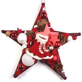Rot-weiße Schlittschuhe auf rotem Stern