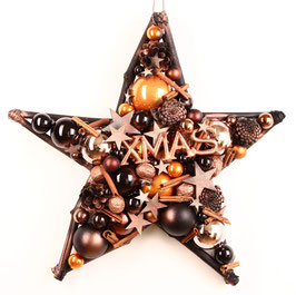 Stern in schwarz - kupfer