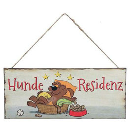 """""""Hunderesidenz"""" Metallschild Hunddekoration"""