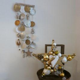 Muschel Deko in gold-silber (Nr. 8385)
