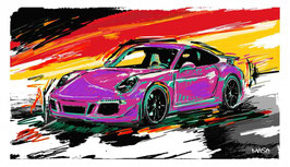 PORSCHE 911 CARERRA COLORED