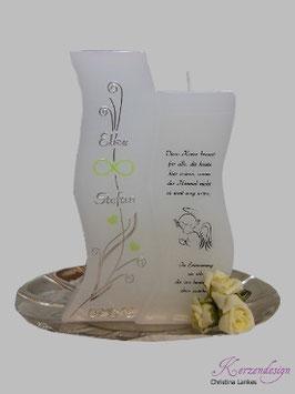 Hochzeitskerze inkl. Gedenkkerze