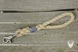 Schlüsselanhänger, 10mm Tau, Scherenkarabiner, lang