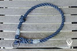 Zughalsung, 10mm Tau, marineblau/grau