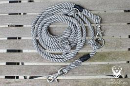 Leine, 3-fach verstellbar, Scherenkarabiner/Ringe