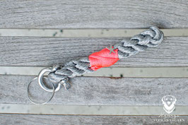 Schlüsselanhänger, 8mm Tau, D-Schäkel
