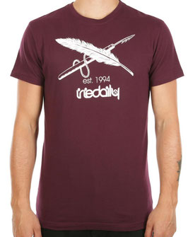Iriedaily Harpoon Flag Tee red wine