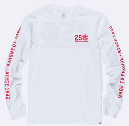Element 25 Year Backprint Long Sleeve T-Shirt white