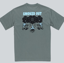 Element Smoke Backprint T- Shirt duck green