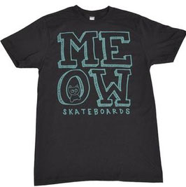 Meow Skateboards Stacked Logo black