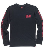Element 25 Year Backprint Long Sleeve T-Shirt flint black