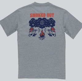 Element Smoke Backprint T-Shirt grey heather
