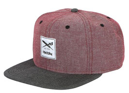 Iriedaily Chambray Snapback red. mel.