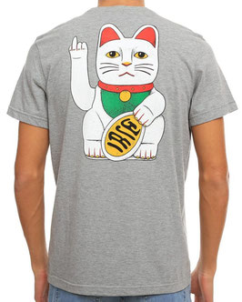 Bye Bye Cat Backprint-Tee grey-mel.