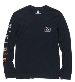 Element Lens Long Sleeve T-Shirt flint black