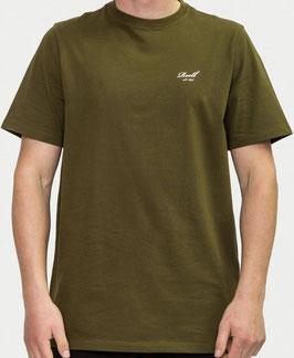Reell Small Script T-Shirt olive