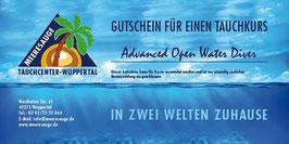 Gutschein Advanced Open Water Diver - AOWD - Fortgeschrittener Tauchkurs