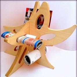 Tagliere tradizionale CON listello d'appoggio in legno di pioppo monolista - size LARGE