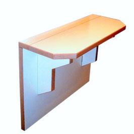 """Giada- """"tavolo consolle""""  è un  tavolo pieghevole da fissare al muro adatto per arredare  piccoli ambienti"""