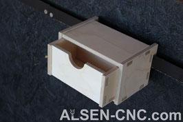 Geschlossene Box mit Schublade
