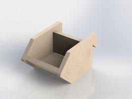 kleine schräge Sichtlagerbox