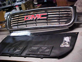 OEM Type Winter Front 1999 2000 2001 2002 GMC Sierra 1500 2500 & 3500 Grill Cover with Doors