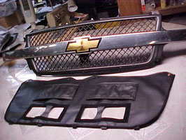 OEM Type Winter Front 2001 2002 Chevy Silverado 2500 3500 Grill Cover With Doors