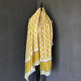 Sjaal |  Klaverdesign geel