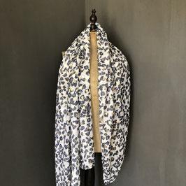 Sjaal |  Panterprint grijs met goud